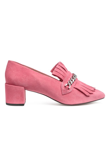 Suede loafers - Pink -  | H&M IE