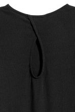 Ribbed jersey dress - Black - Ladies | H&M CN 3