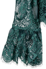 Lace blouse - Dark green - Ladies | H&M 2