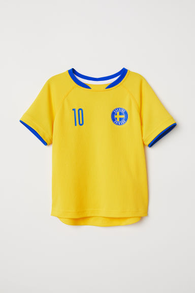 Football shirt - Yellow/Sverige - Kids | H&M CN