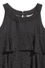Flounced dress - Black/Stars - Kids | H&M CN 3