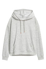 Pyjamas with a top and shorts - Grey/Velour - Ladies | H&M CN 3