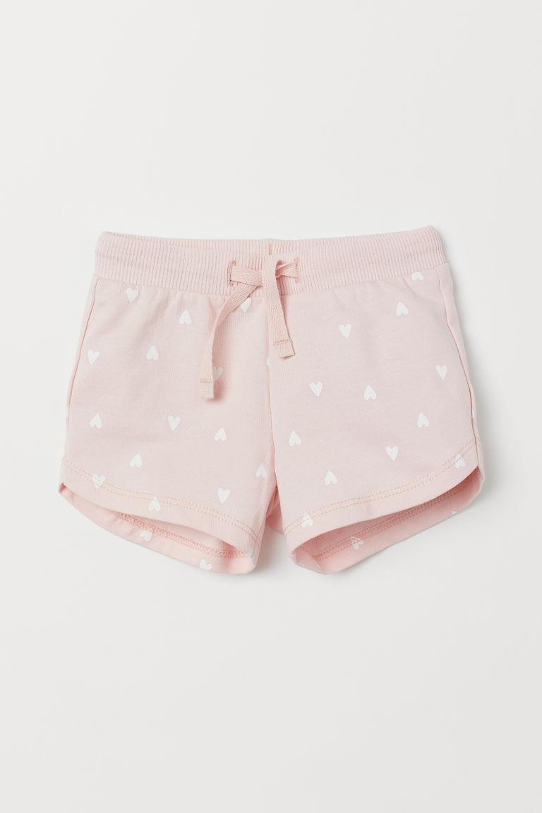 Patterned shorts - Light pink/Hearts - Kids | H&M GB