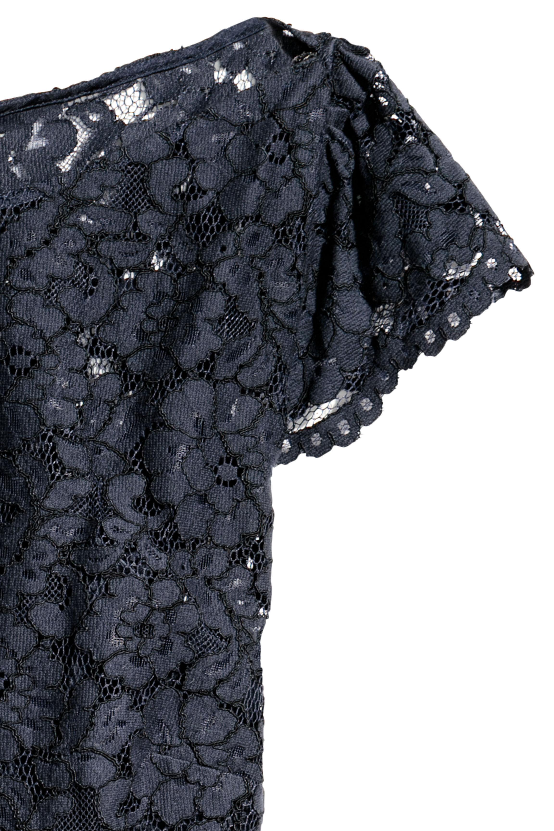 H&M+ Vestido plisado - Azul oscuro - MUJER | H&M ES