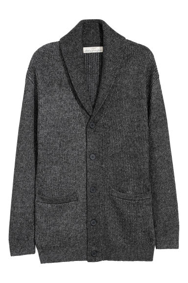 Knitted cardigan - Black marl -  | H&M GB