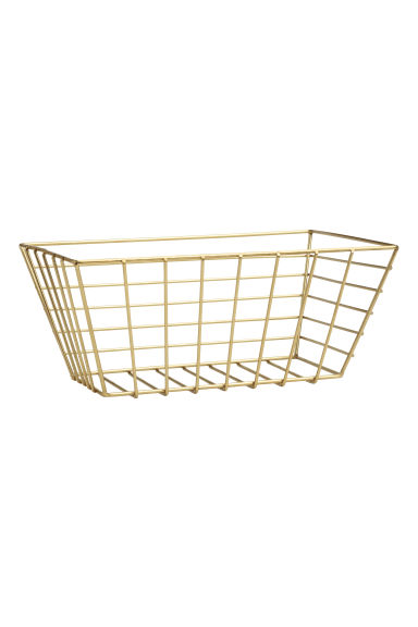 Small metal wire basket - Gold - Home All | H&M IE