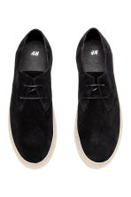 Suede shoes - Black - Men | H&M CN 2