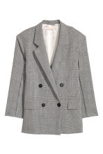 Wool-blend jacket - Grey/Dogtooth - Ladies | H&M 2