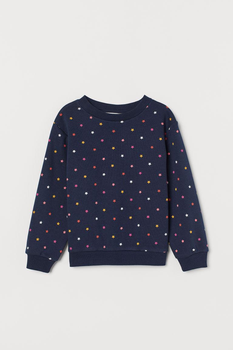 Sweatshirt - Dark blue/Stars - Kids | H&M GB