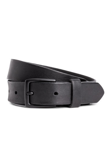 Narrow leather belt - Black - Men | H&M GB