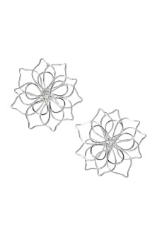 Flower-shaped earrings