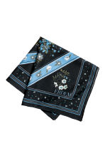 Silk-blend floral scarf - Dark blue/Floral - Men | H&M 1