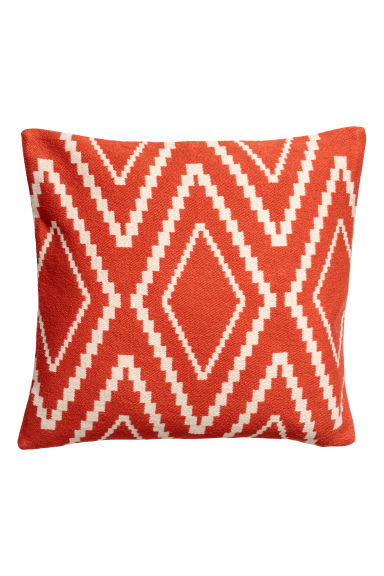 Jacquard-weave cushion cover - Orange - Home All | H&M CN