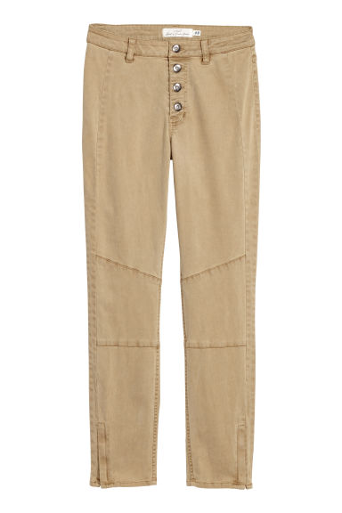 Lyocell-blend trousers - Beige - Ladies | H&M