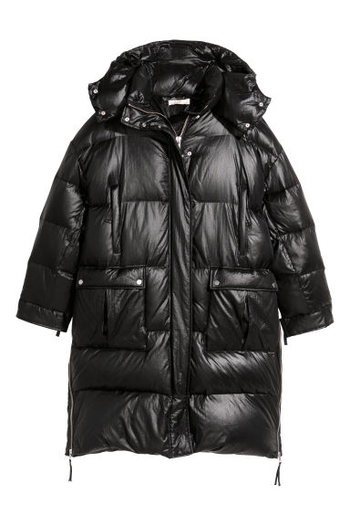 Long down jacket - Black - Ladies | H&M
