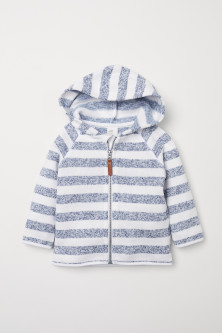 Knit Fleece Hooded Jacket