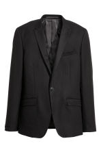 Textured jacket Skinny fit - Black - Men | H&M CN 2