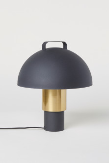 Stor bordlampe i metal