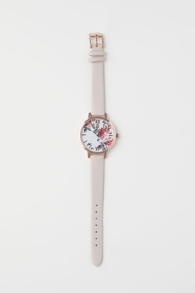 Watch - Rose gold-coloured/Beige - Ladies | H&M GB