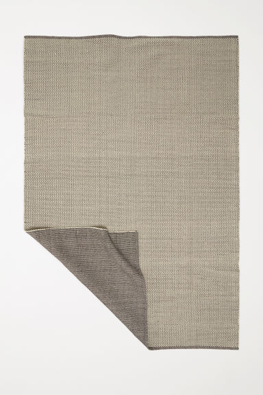 Large cotton rug - Natural white - Home All | H&M IE