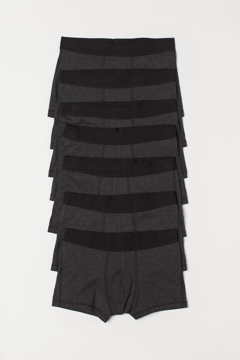 7-pack short trunks - Dark grey - Men | H&M GB