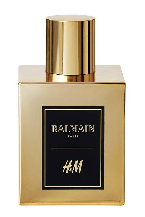The Balmain x H&M limited edition Eau de Perfume.