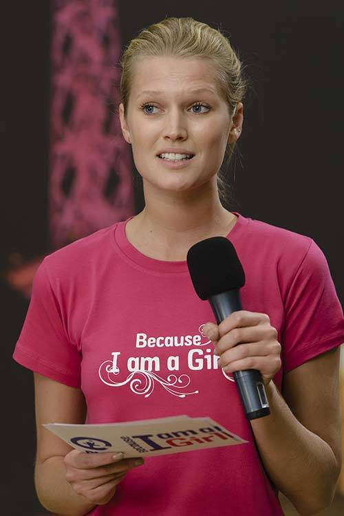 "Toni Garrn as an ambassador for the project ""Because I am a girl"", Getty Images."