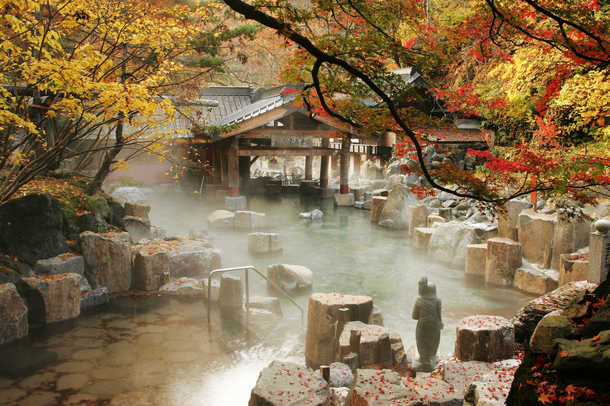 Leave your stress behind in one of Japan's many hot springs.