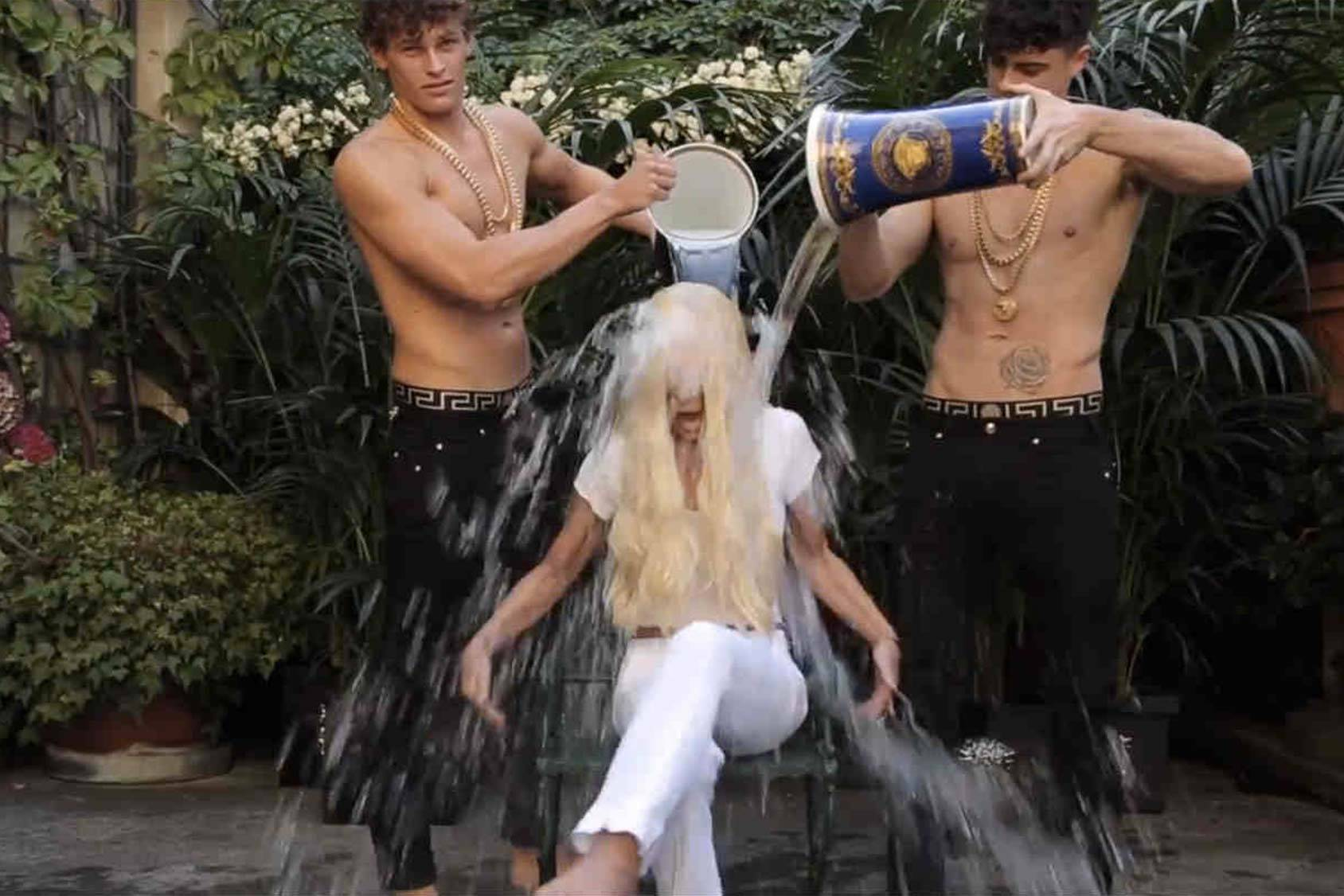 Last summer's ALS Ice Bucket Challenge got fashion companies to donated thousands of pounds to charity, thanks to the industry's most famous influencers taking on the challenge. Donatella Versace (pictured) was one of many wet activists, All Over Press.
