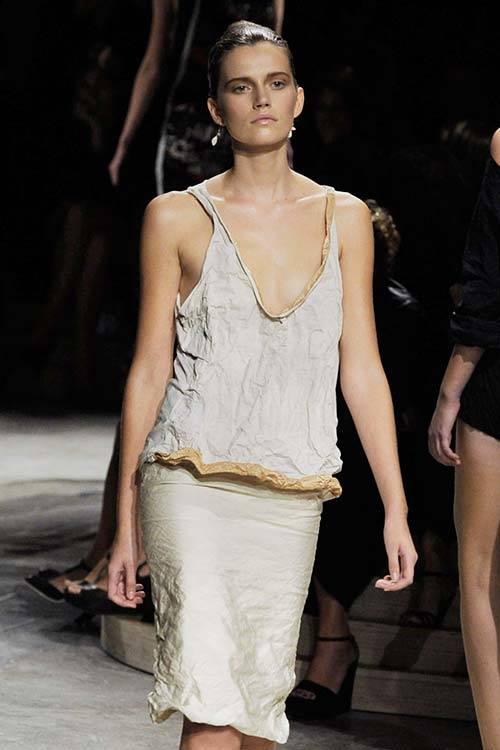 Cato van Ee at Prada S/S 2009, Getty Images.