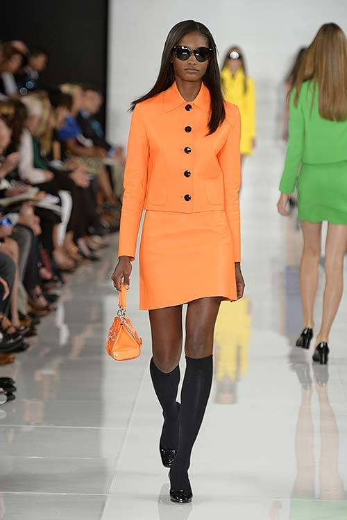 Melodie Monrose for Ralph Lauren S/S 2014, Getty Images.