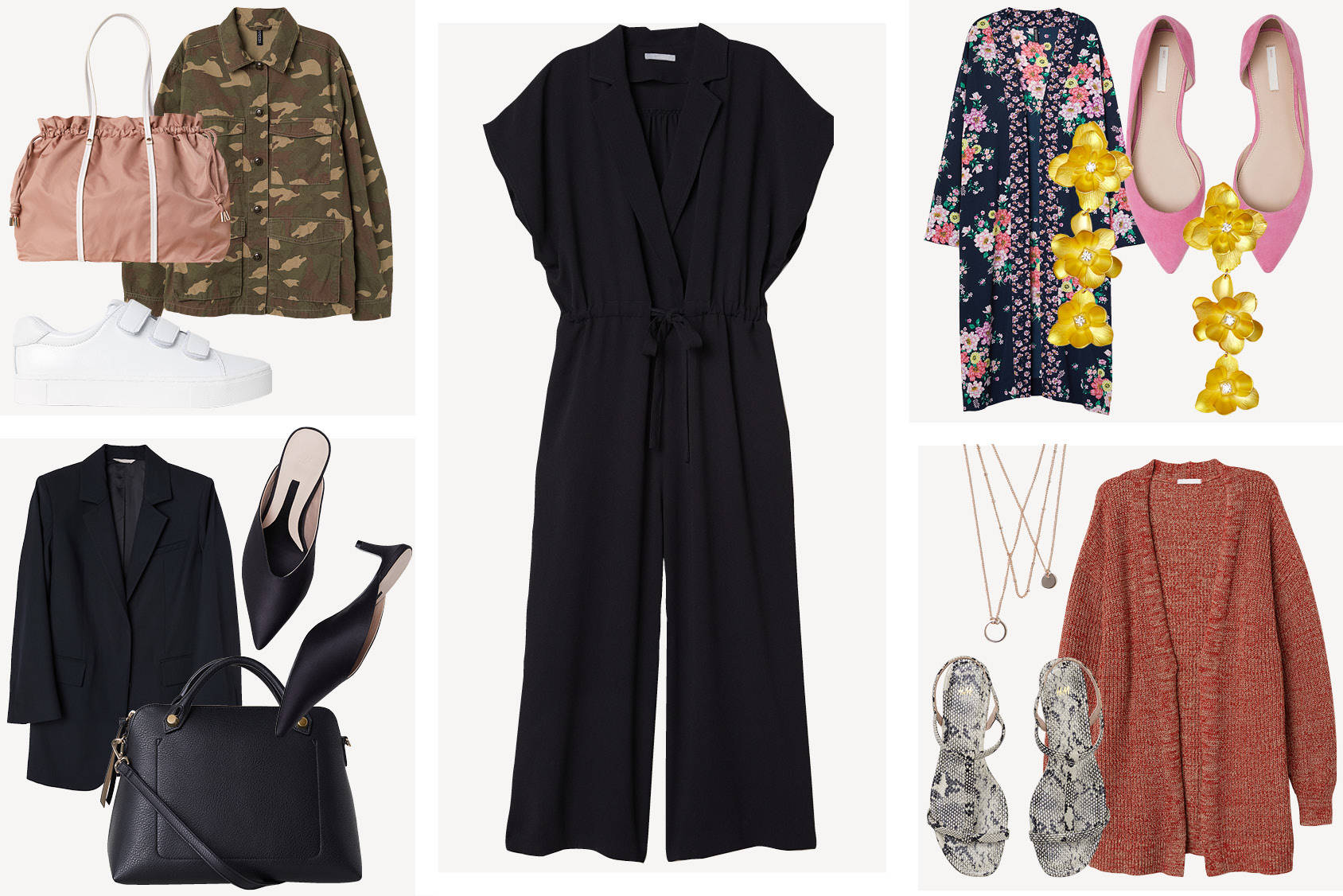 Four ways to style the jumpsuit