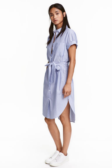 The criterion collection blue shirt dress