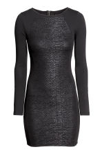 Black snakeskin dress
