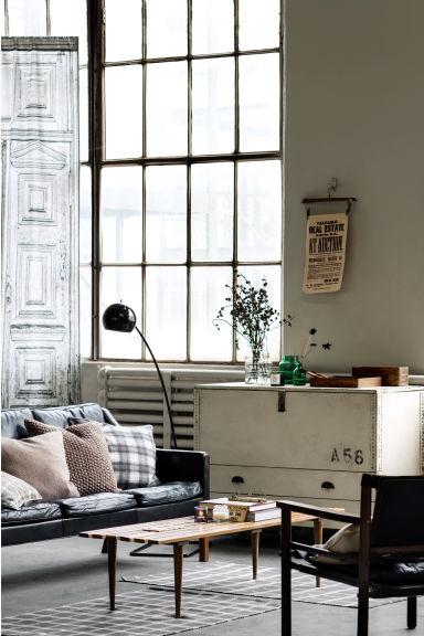 panneau de rideau blanc home all h m fr. Black Bedroom Furniture Sets. Home Design Ideas