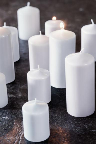 grande bougie pilier blanc home all h m fr. Black Bedroom Furniture Sets. Home Design Ideas