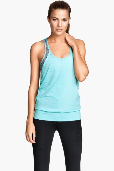 camiseta de yoga con sujetador turquesa claro mujer. Black Bedroom Furniture Sets. Home Design Ideas