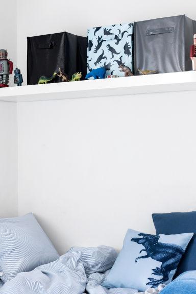 bo te de rangement bleu home all h m fr. Black Bedroom Furniture Sets. Home Design Ideas