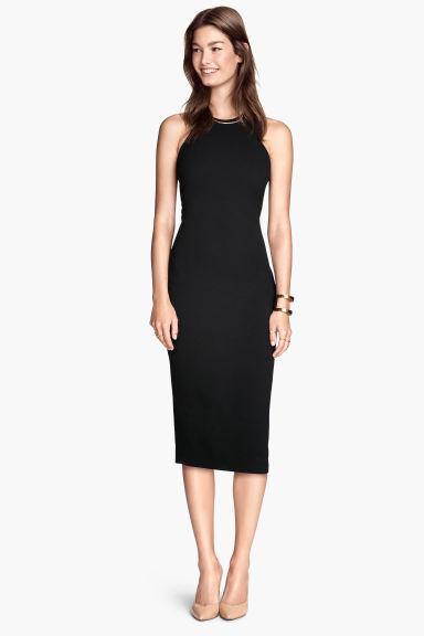 robe sans manches noir femme h m fr. Black Bedroom Furniture Sets. Home Design Ideas
