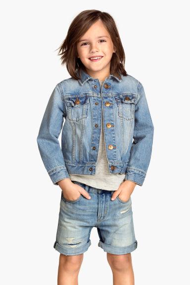 veste en jean bleu denim clair enfant h m fr. Black Bedroom Furniture Sets. Home Design Ideas