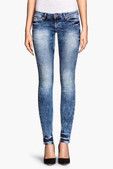 super skinny super low jeans denim blue ladies h m cn. Black Bedroom Furniture Sets. Home Design Ideas
