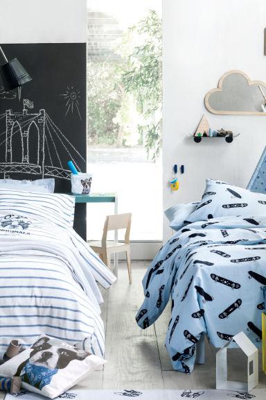 parure housse de couette bleu home all h m fr. Black Bedroom Furniture Sets. Home Design Ideas