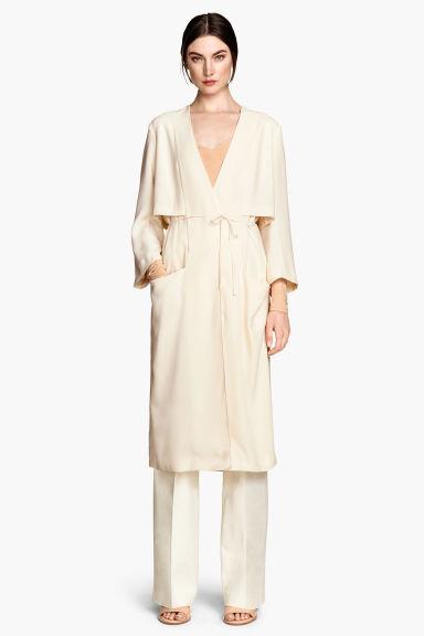 robe trench beige clair femme h m fr. Black Bedroom Furniture Sets. Home Design Ideas
