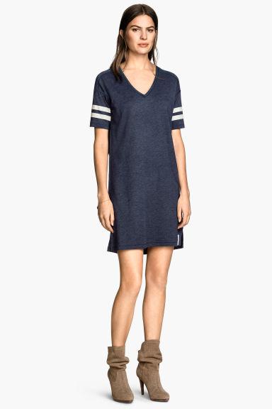 robe t shirt bleu fonc femme h m fr. Black Bedroom Furniture Sets. Home Design Ideas