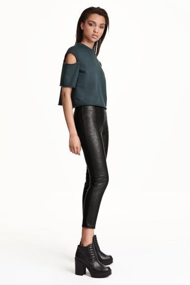 legging taille haute noir femme h m fr. Black Bedroom Furniture Sets. Home Design Ideas