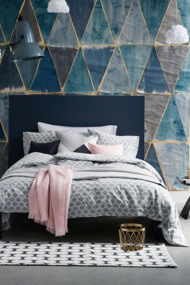 parure de couette gris clair home all h m fr. Black Bedroom Furniture Sets. Home Design Ideas