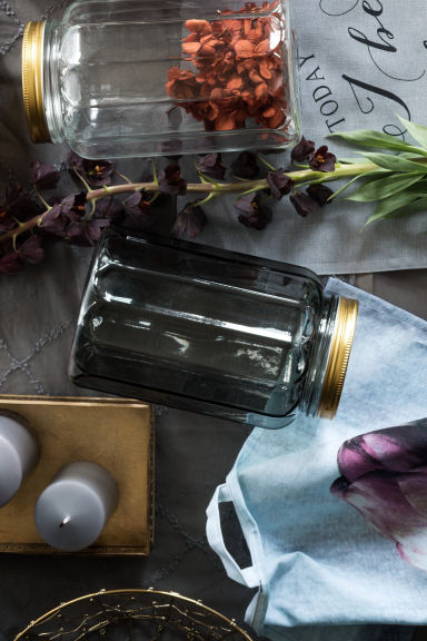 grande bougie pilier gris clair home all h m fr. Black Bedroom Furniture Sets. Home Design Ideas