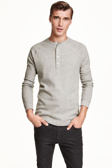 Men 39 s t shirts vests shop the latest trends h m for Whats a henley shirt