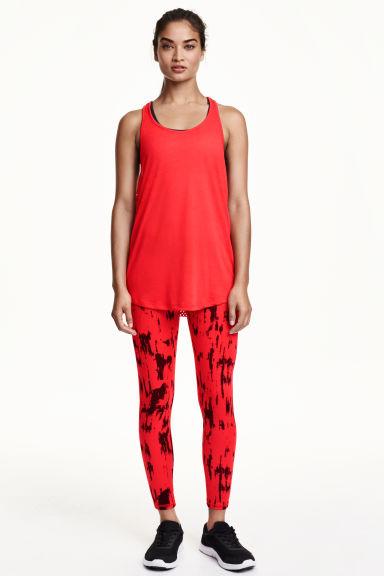 sports leggings red patterned ladies h m gb. Black Bedroom Furniture Sets. Home Design Ideas