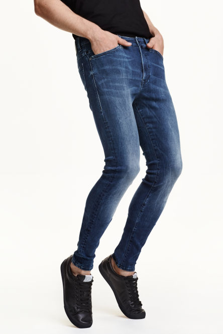 Tech stretch skinny low jeans - Hm herren jeans ...